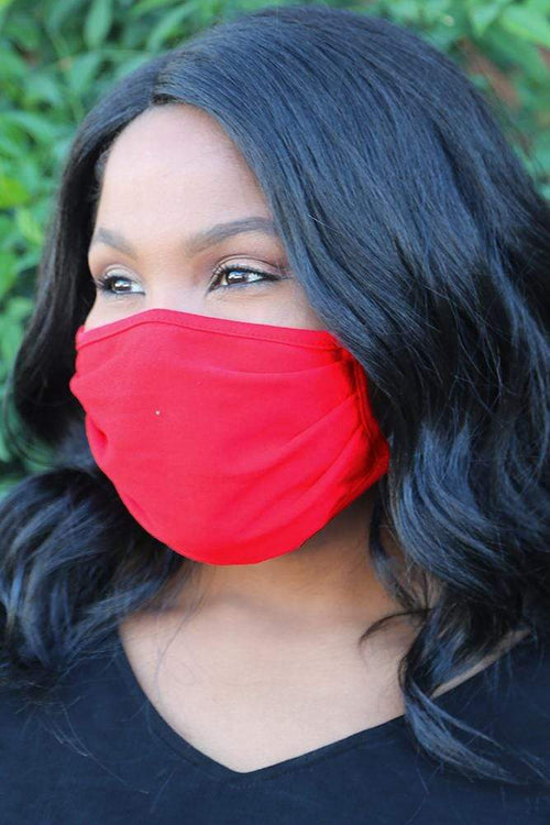 accessory Vikki Vi Washable Basic Red Face Covering