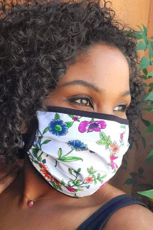 accessory Vikki Vi Washable Wild Flower Printed Face Covering