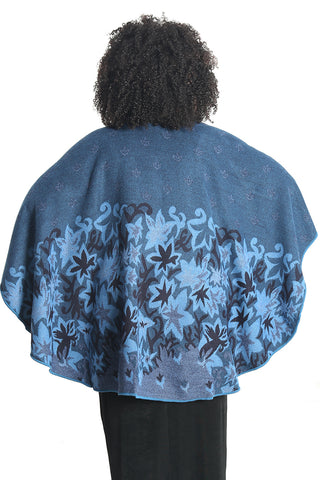 Parsley and Sage Blue Autumn French Cape