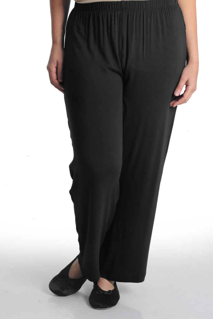 Vikki Vi Black Bamboo Lounge Pull on Pant