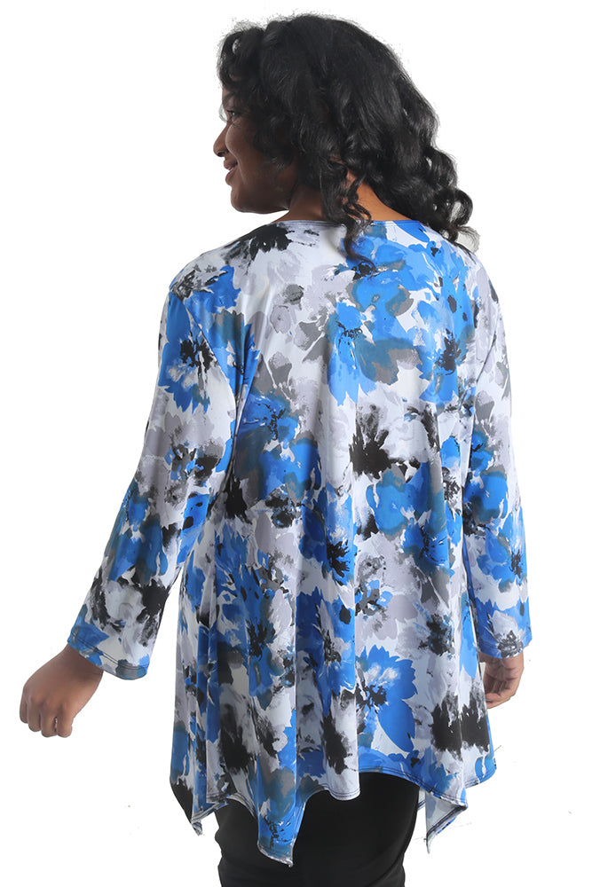 Vikki Vi Jersey Royal Flower Tunic