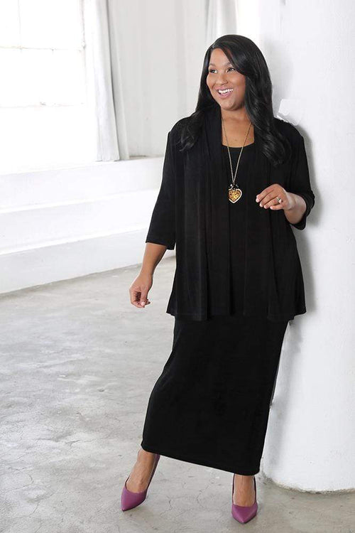 Bundle Vikki Vi Classic Black 3/4 Sleeve Kimono Bundle