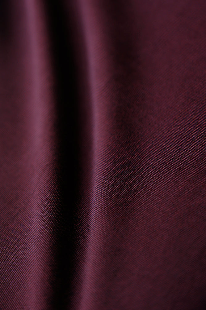 Vikki Vi Classic Heathered Burgundy 3/4 Sleeve Top