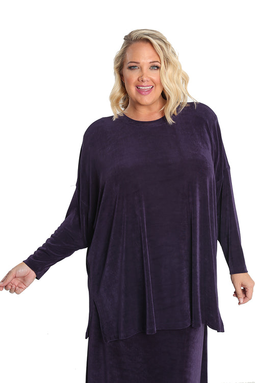 Vikki Vi Classic Concord Purple Swing Top