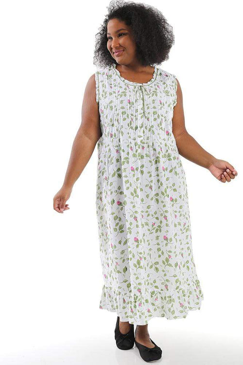 Dresses La Cera Garden Sleeveless Cotton Gown