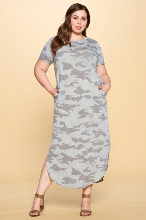 Dresses Oddi Camouflage Maxi Dress