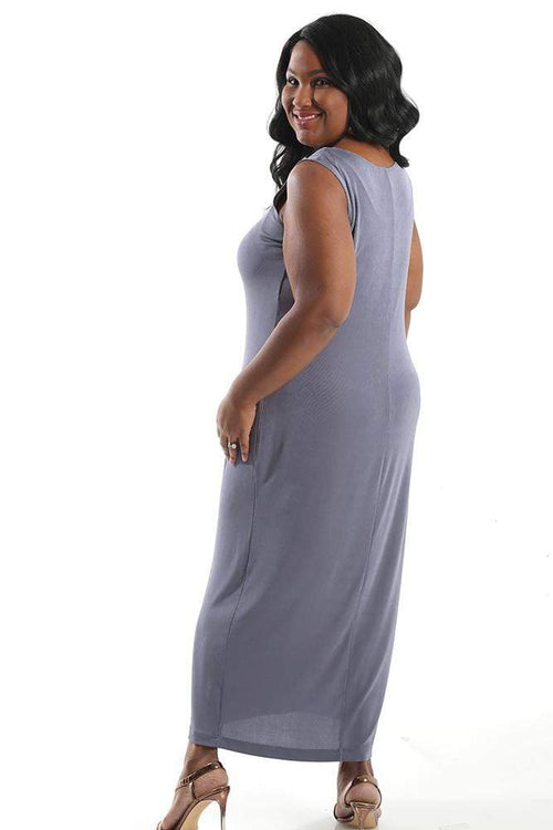 Dresses Vikki Vi Classic Dusty Lilac Sleeveless Maxi Tank Dress