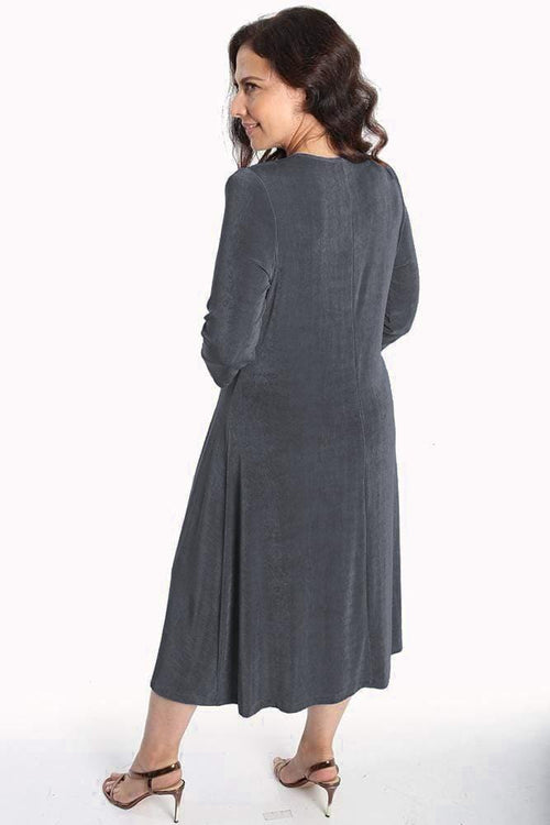 Dresses Vikki Vi Classic Graphite 3/4 Sleeve A-Line Dress