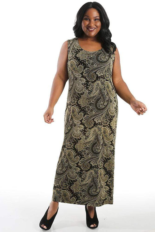 Dresses Vikki Vi Classic Perfect Paisley Maxi Tank Dress