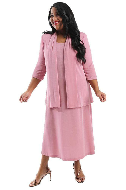 Dresses Vikki Vi Classic Pink Sugar 3/4 Sleeve A-Line Dress