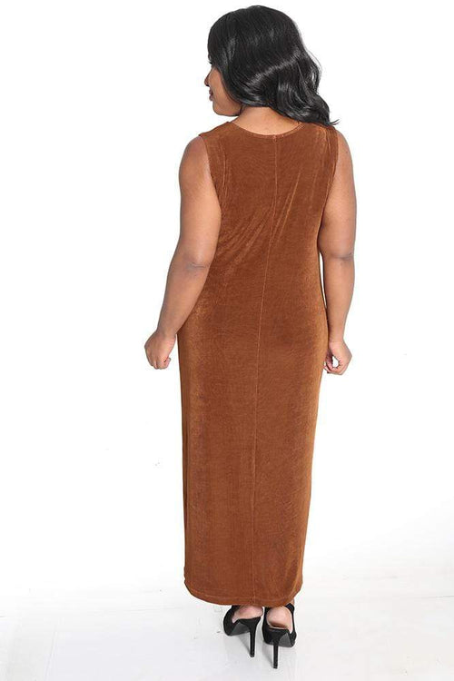 Dresses Vikki Vi Classic Rust Sleeveless Maxi Tank Dress