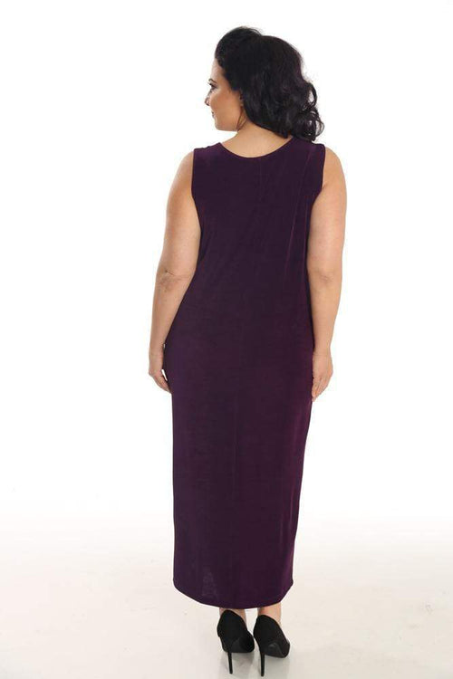 Dresses Vikki Vi Classic Sugar Plum Sleeveless Maxi Tank Dress