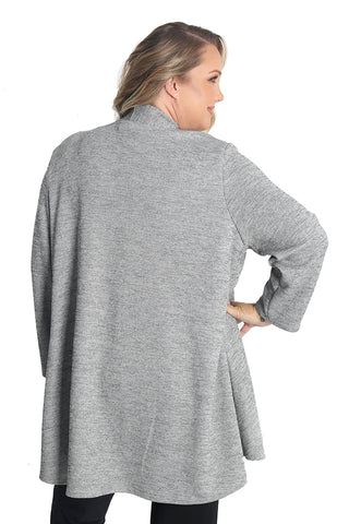 Vikki Vi Gray Sweater Knit Car Coat