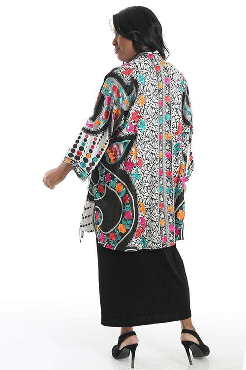 Jackets BOK Style Embroidered Floral Fancy Shawl Jacket