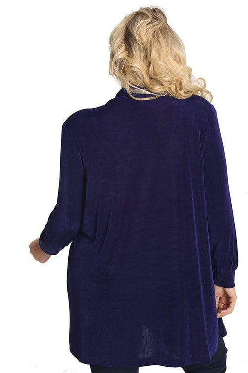 Jackets Vikki Vi Classic Amethyst Purple Long Kimono Jacket