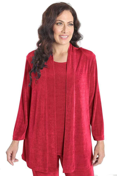 Jackets Vikki Vi Classic Watermelon Red Kimono Jacket