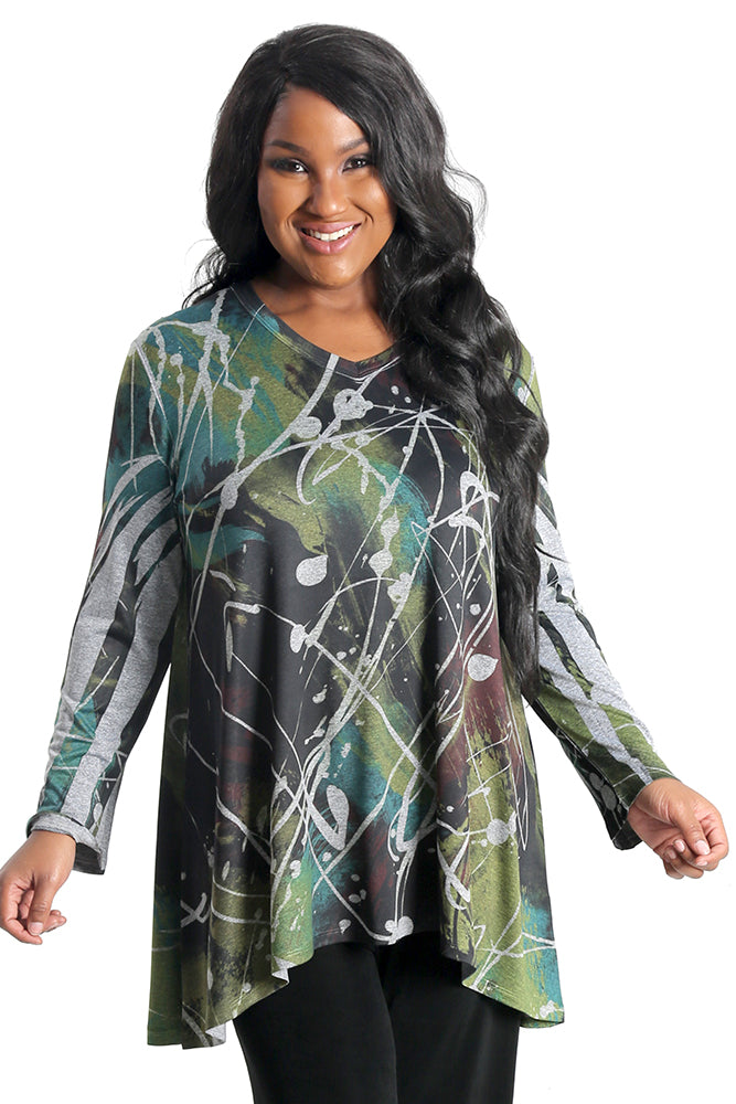 Jess and Jane Abstract Tunic