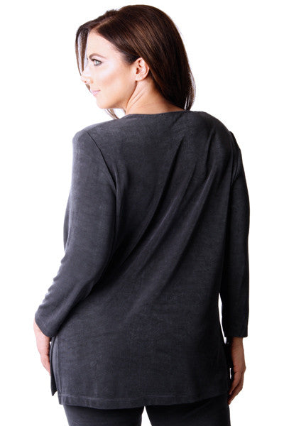 Vikki Vi Classic Graphite Long Sleeve Tunic