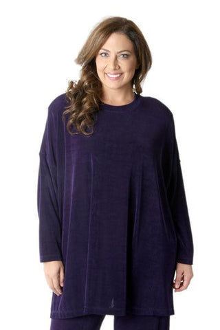 Vikki Vi Classic Royal Purple Swing Top