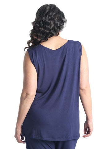 Vikki Vi Navy Bamboo Lounge Sleeveless Tunic