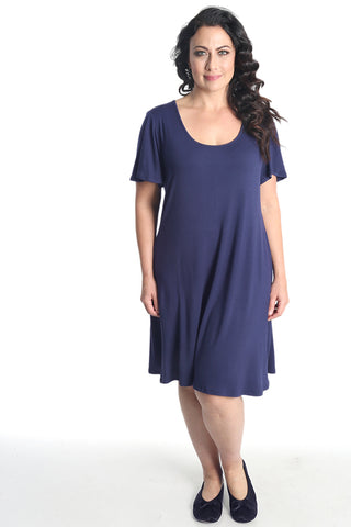 Vikki Vi Navy Bamboo Lounge T- Shirt Dress