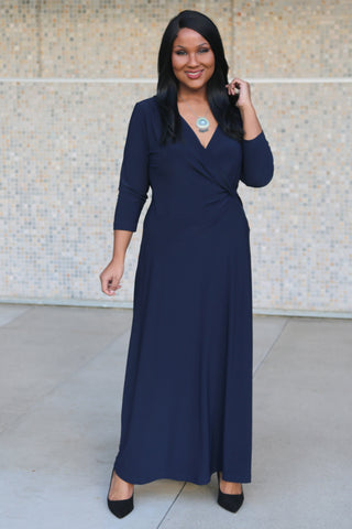 navy blue jersey plus size clothing