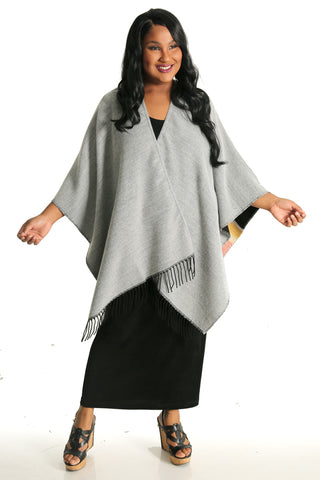 Parsley and Sage Gray Retro French Cape