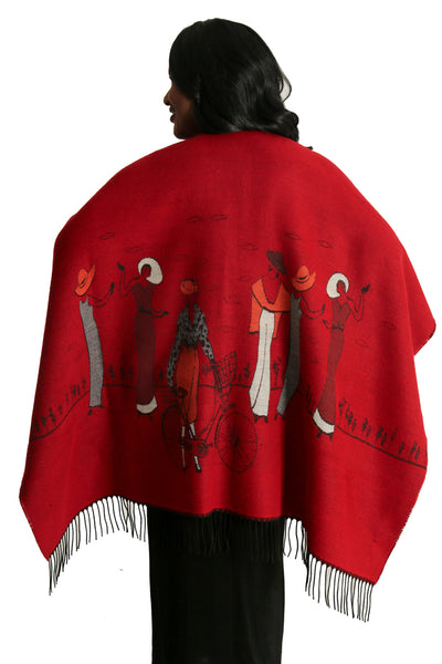 Parsley and Sage Red Retro French Cape