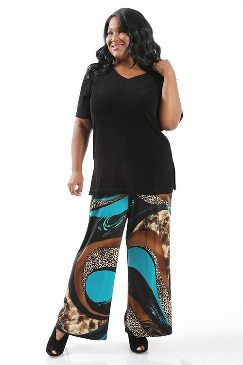 Pants Caribe Charlotte Wide Leg Pull on Pant