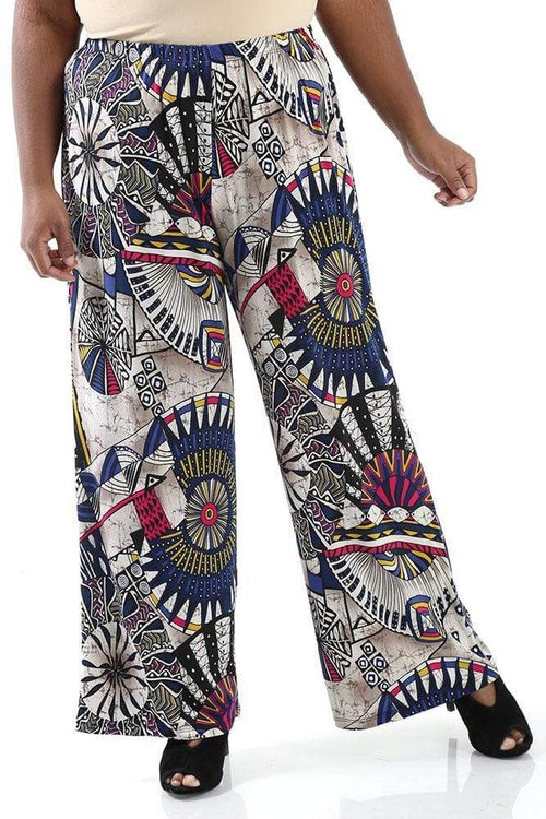 Pants Caribe Sylvia Wide Leg Pull on Pant