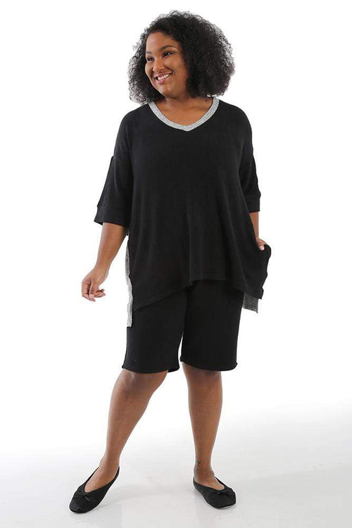 Pants La Cera Comfort Collection Black & Gray Block Tunic