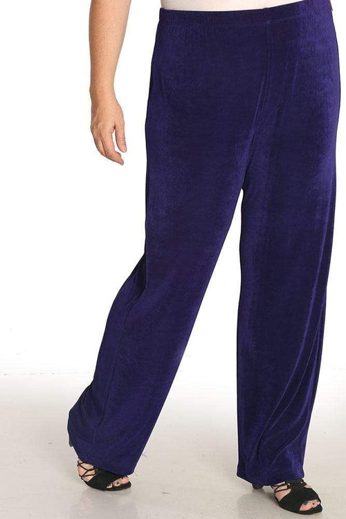 Pants Vikki Vi Classic Amethyst Purple Pull on Pant