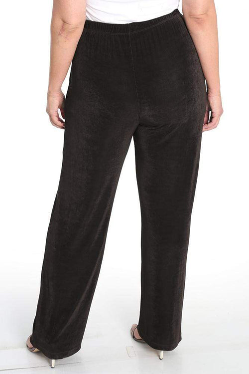 Pants Vikki Vi Classic Chocolate Petite Pull-On Pant