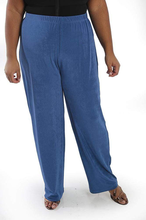 Pants Vikki Vi Classic Cornflower Petite Pull-On Pant