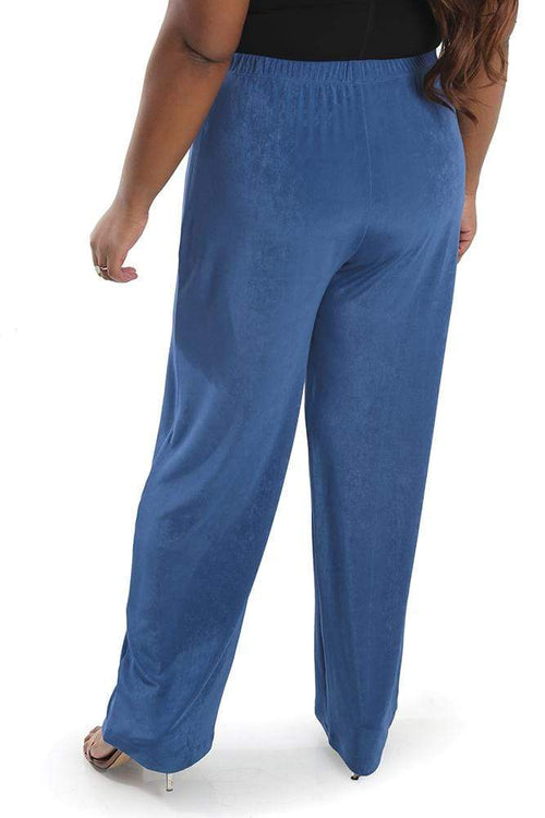 Pants Vikki Vi Classic Cornflower Pull on Pant