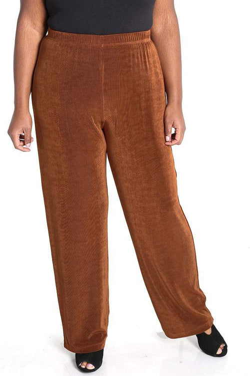 Pants Vikki Vi Classic Rust Petite Pull-On Pant