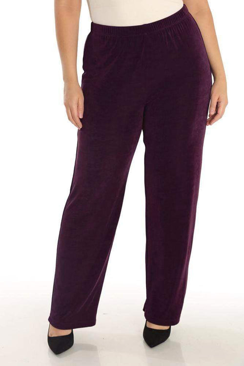 Pants Vikki Vi Classic Sugar Plum Pull on Pant