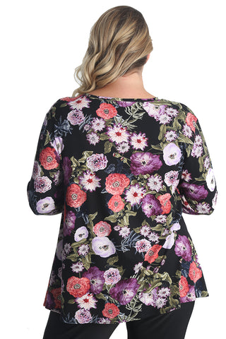 Vikki Vi Purple Poppy Swing Tunic