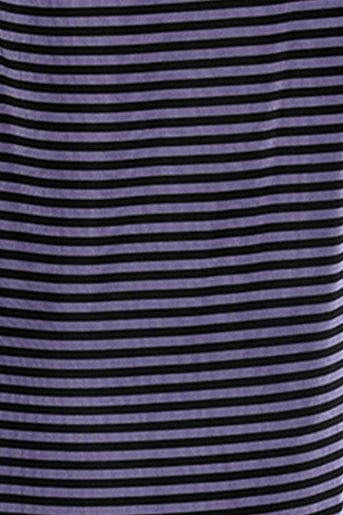 Vikki Vi Purple and Black Striped Tunic