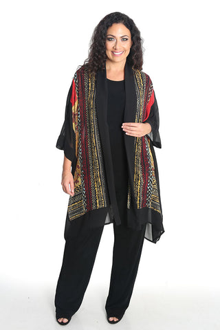 Dressori Batik Design Silk Georgette Duster