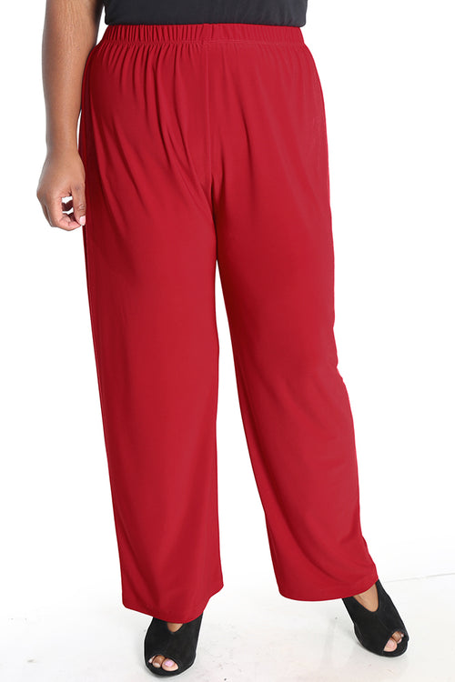 Vikki Vi Jersey Red Pull on Pant