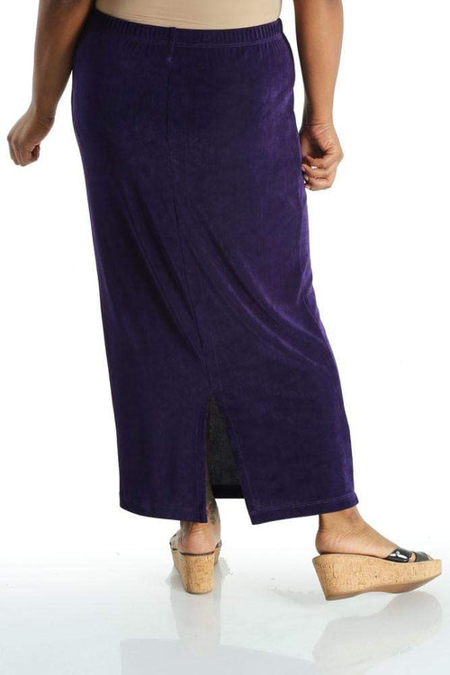 Skirts Vikki Vi Classic Amethyst Purple Straight Maxi Skirt