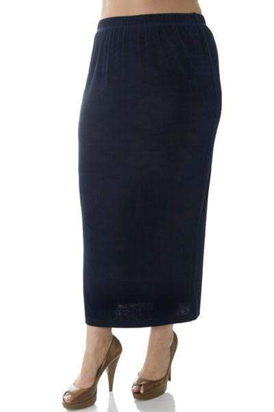 Skirts Vikki Vi Classic Navy Straight Maxi Skirt