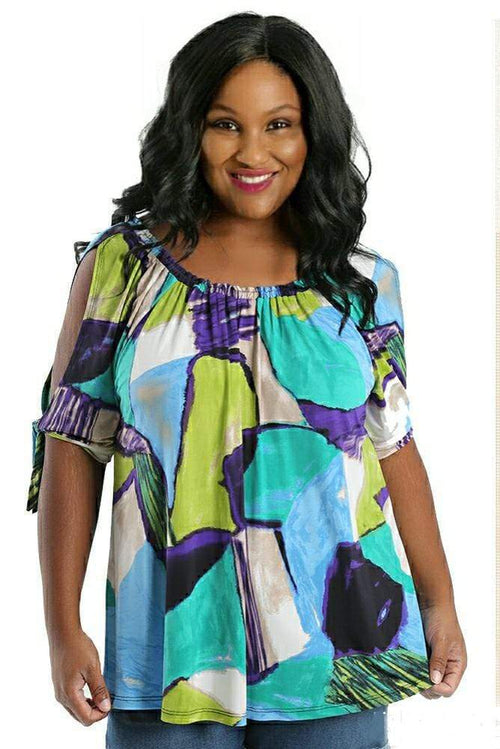 Tops Caribe Amelia Split Sleeve Blouse