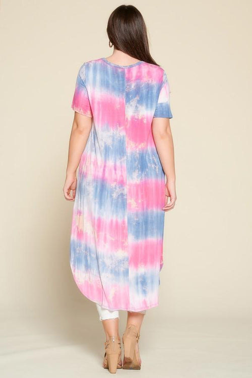 Tops Oddi Tye-Dye Flag Tunic