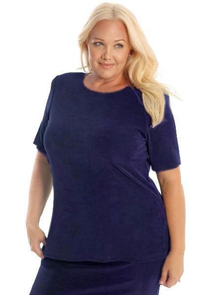 Tops Vikki Vi Classic Amethyst Purple Short Sleeve Tunic