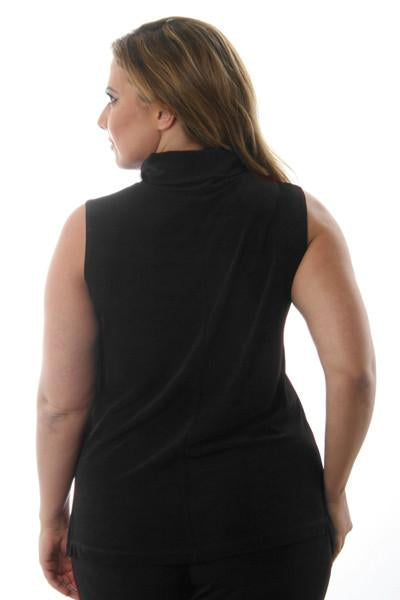 Tops Vikki Vi Classic Black Turtleneck Tank