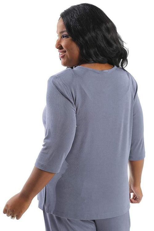 Tops Vikki Vi Classic Dusty Lilac 3/4 Sleeve Top