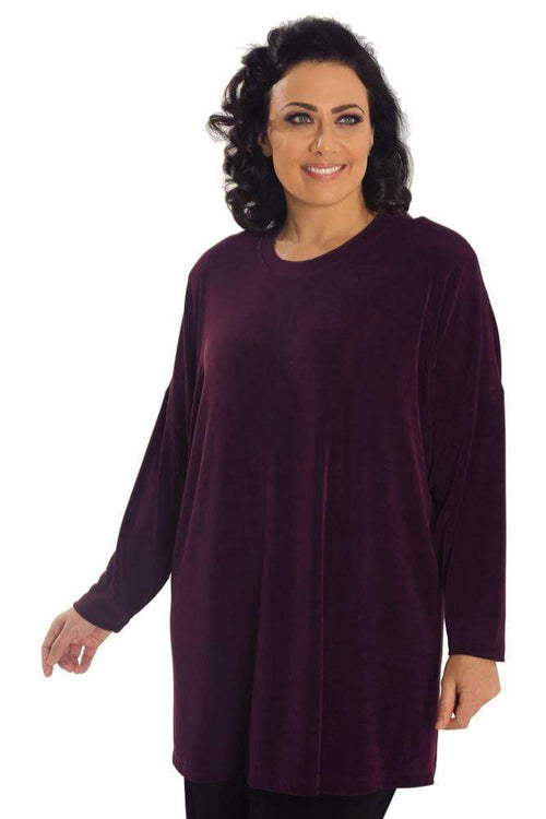 Tops Vikki Vi Classic Sugar Plum Swing Top