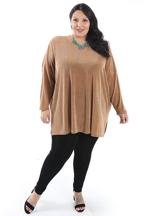 Tops Vikki Vi Classic Wheat Swing Top